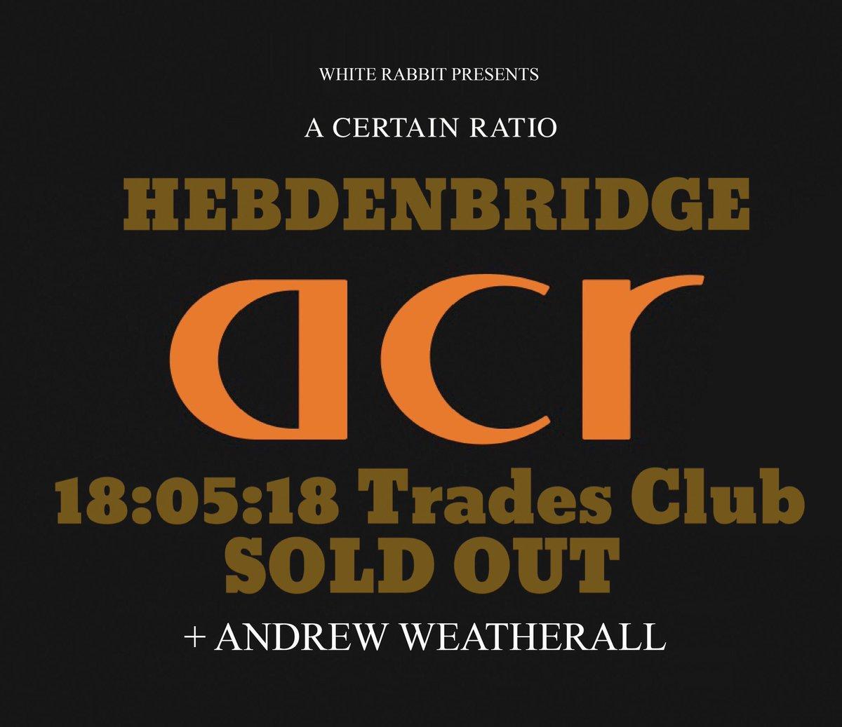 May 18 2018, Trades Club, Hebden Bridge - ACR Gigography