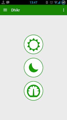 Tampilan utama aplikasi adzkar android (rev-all.blogspot.com)