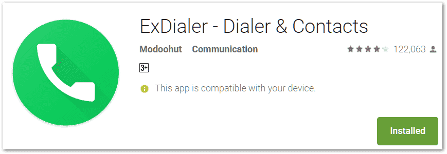 ex dialer app for android mobile