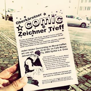 Hier treffen sich monatlich Kärntens Zeichner, Comiczeichner, Cartoonisten, etc.