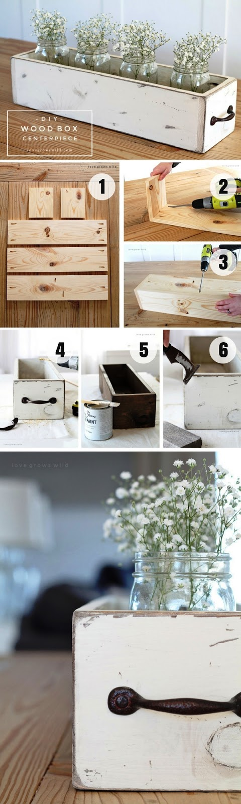 DIY Wood Box Centprice & 17 Awesome DIY Wood Craft Ideas for House Design - Architecture ... Aboutintivar.Com