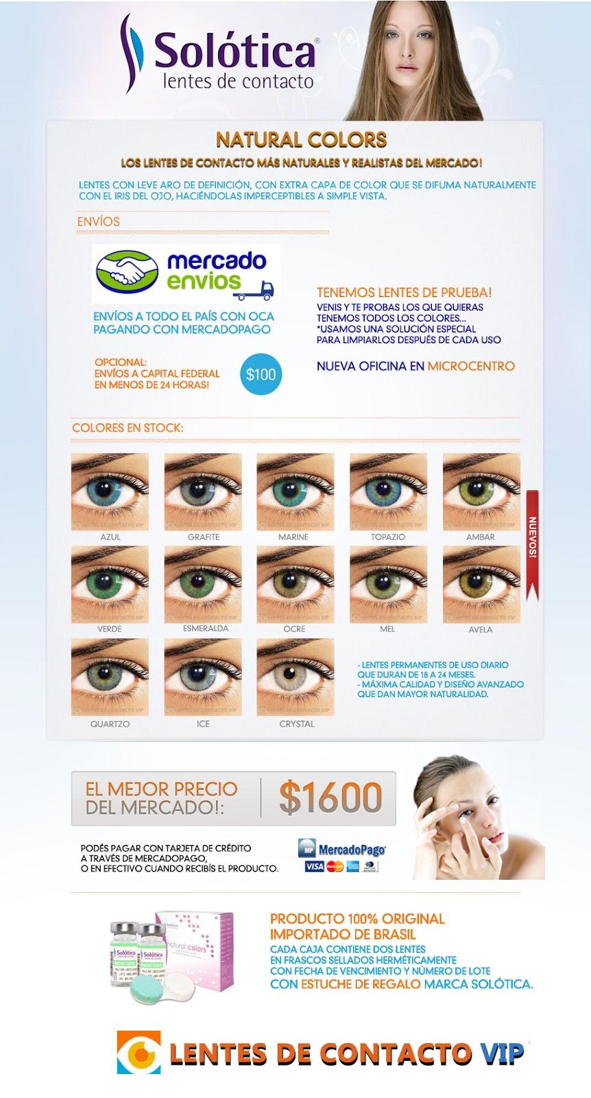 Lentesdecontactovip - Lentes de contacto VIP Solotica Natural Colors Hidrocor Argentina
