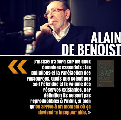 décroissance nature, Alain de Benoist