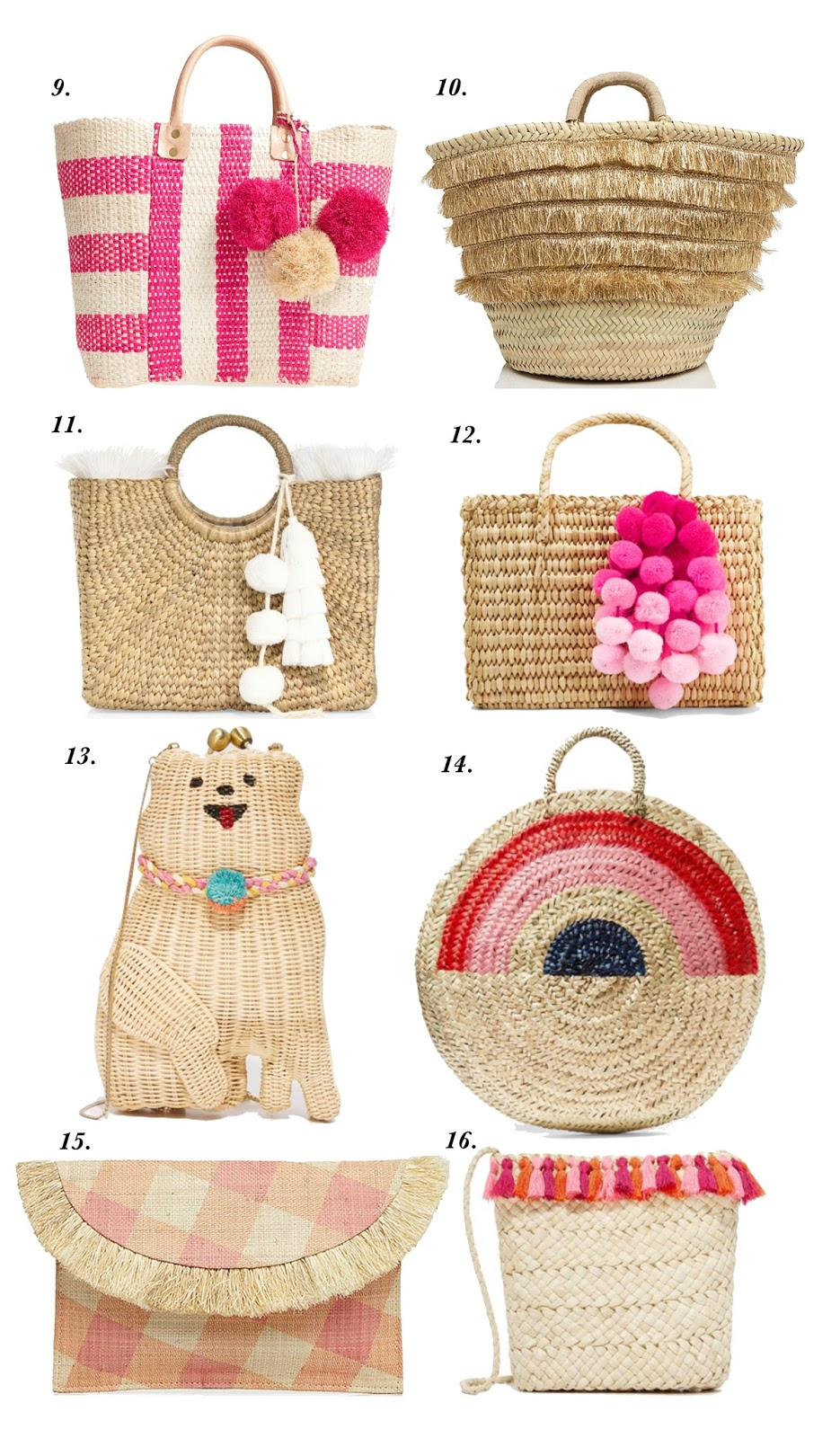 Straw Bags - Click through to see more on Something Delightful Blog!