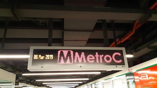 I tabelloni della Metro C
