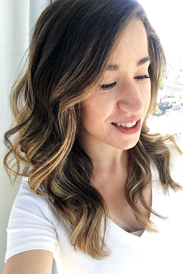 Blonde Balayage on Brunette Base - Tori's Pretty Things Blog