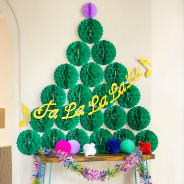 Honeycomb ball Christmas tree!