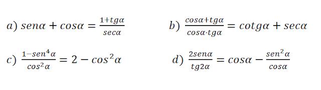 Simplificación de expresiones trigonométricas ejercicios resueltos