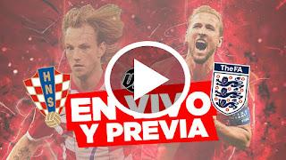 Inglaterra vs Croacia EN VIVO   Semifinal Rusia 2018