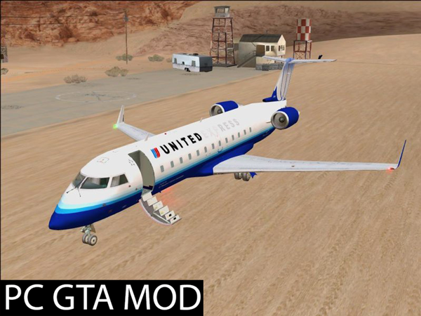 Free Download Bombardier CRJ200 *Small Update* Mod for GTA San Andreas.