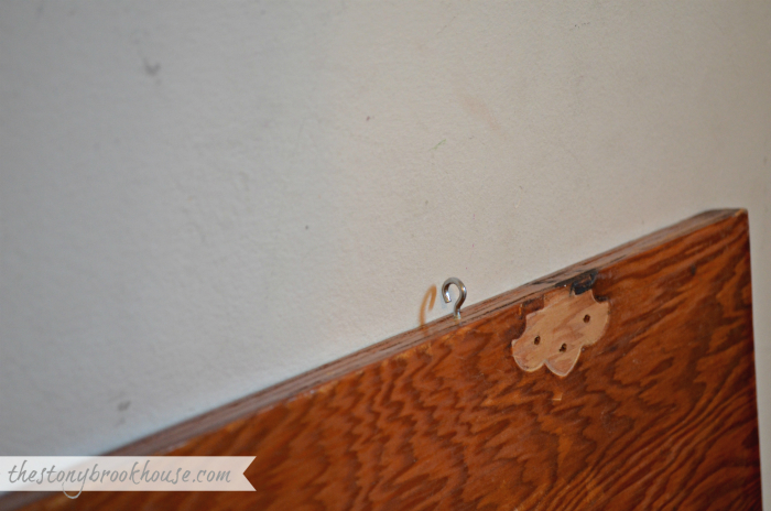 little hooks to hang cabinets