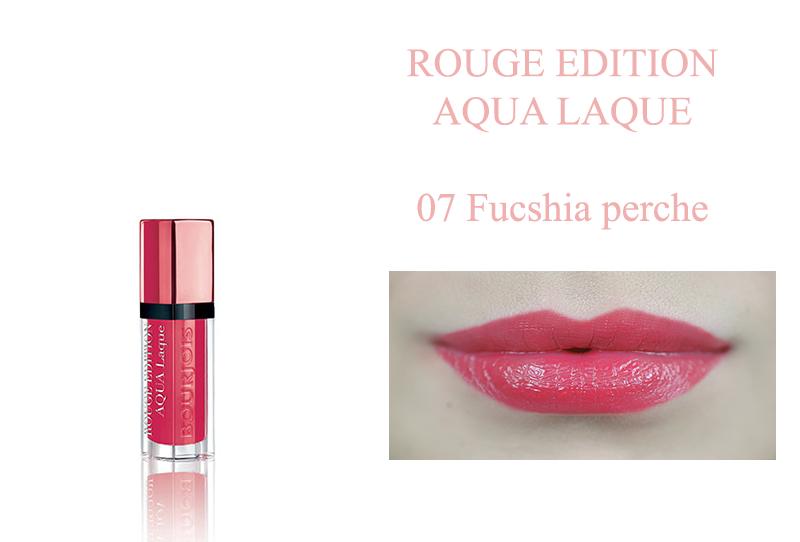 Bourjois Rouge Edition Aqua Laque 07 fucshin perche