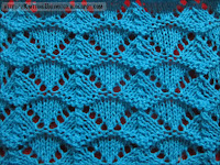 shell lace knitting pattern