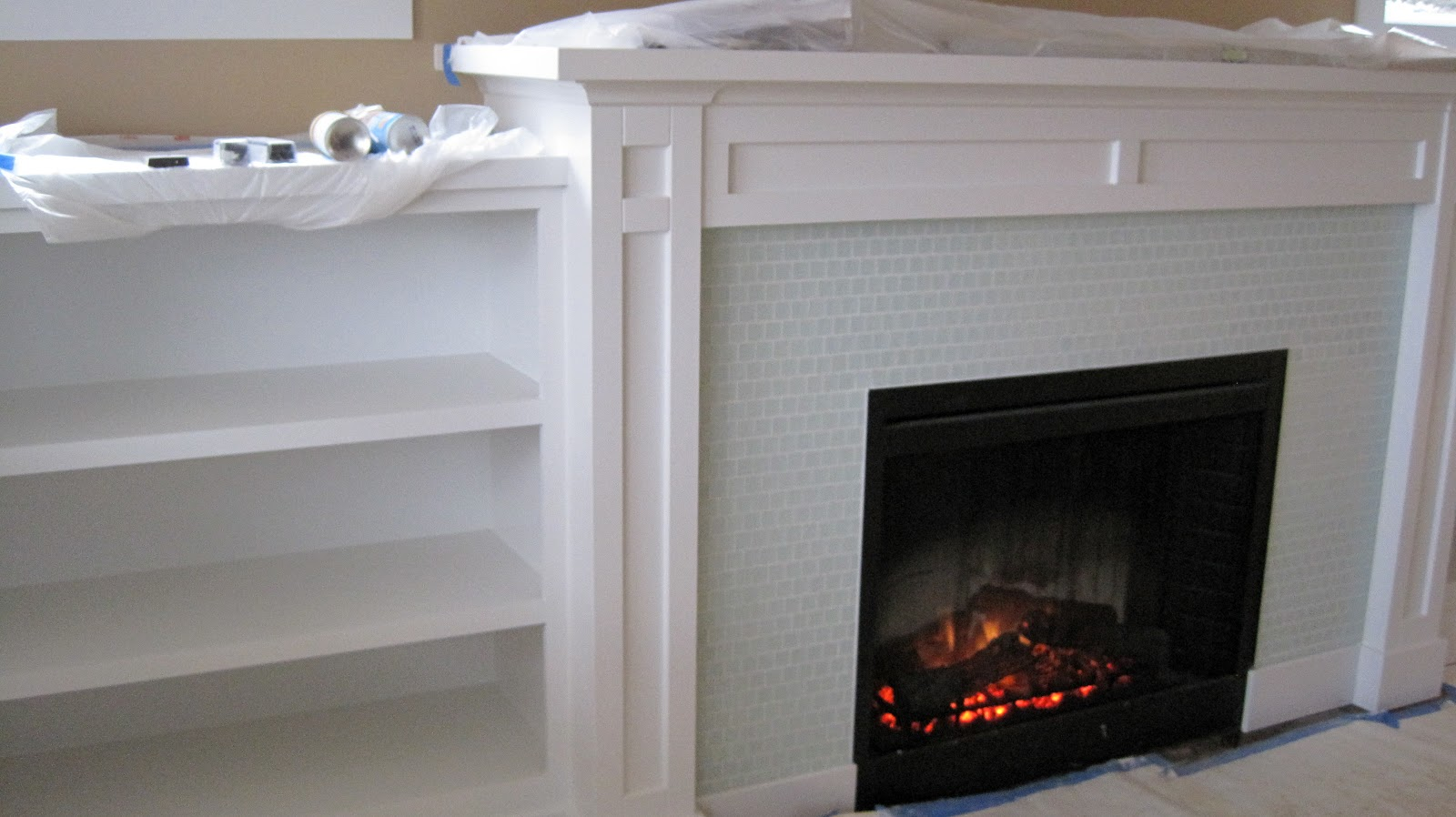 I Married a Tree Hugger: Built in Fireplace with Shelves