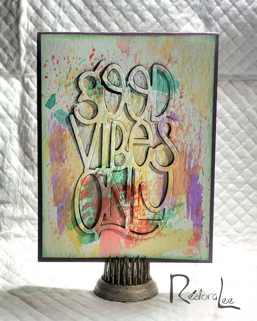 Spellbinders' Good Vibes Only! - Large Word Die Cut