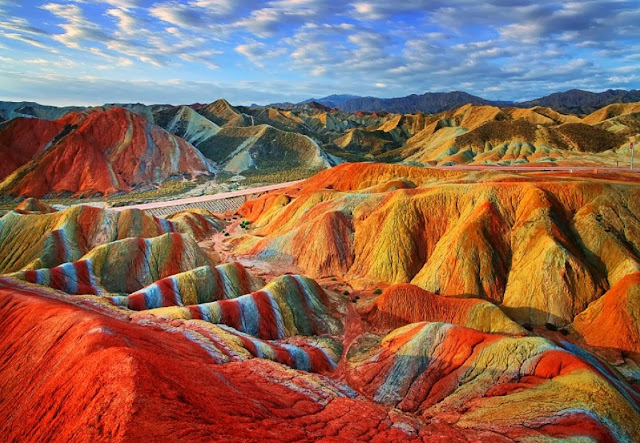 Danxia Rainbow Colored Mountains China
