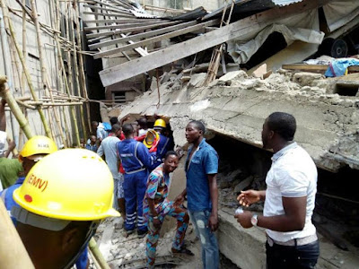 2 confirmed dead in Lagos 3-storey building collapse