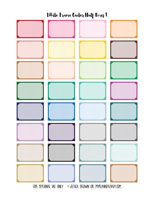 White Frame Center Half Boxes 1 from myplannerenvy.com