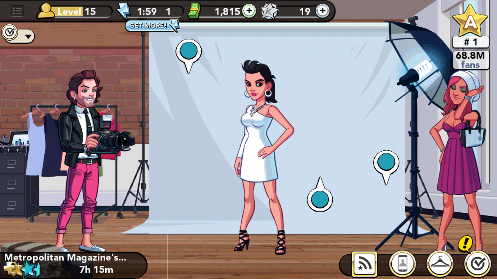 Kim Kardashian: Hollywood app - photo shoot