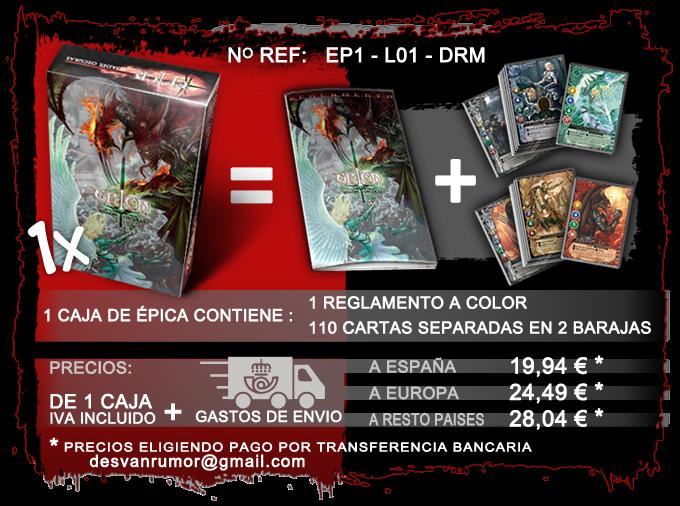 producto con ref: EP1-L01-DRM, pago por transferencia Bancaria