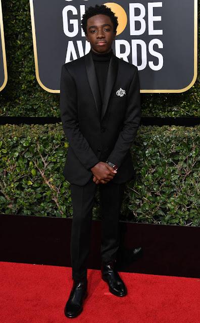 Golden Globes 2018, Red Carpet, Alfombra Roja, Tuxedos, Trajes, Ternos, Hombres, Looks, Outfits, Premiación, Masculinos, Estilismos, Vestir bien, Caleb McLaughlin