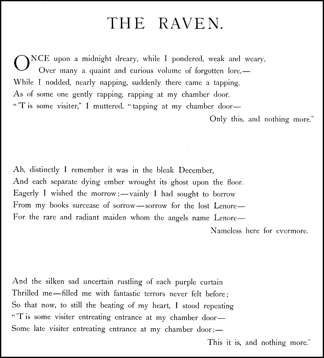 Gustave Dore The Raven By Edgar Allan Poe