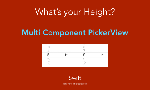 Multiple Component or Column PickerView Example iOS Swift 4