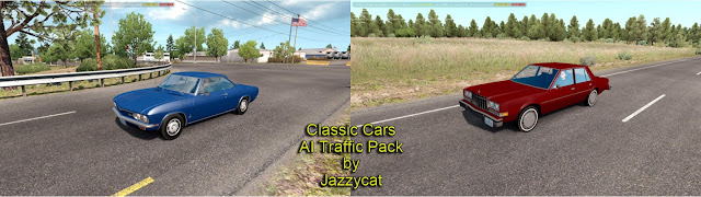 ats classic cars ai traffic pack v3.3 screenshots 1, Dodge Diplomat '85, Chevrolet Corvair '69