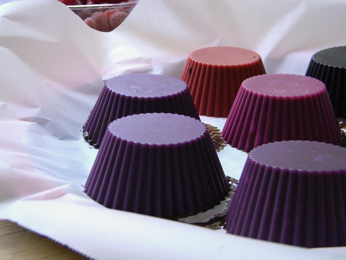Coupe en chocolat avec mousse chocolat-framboise recette