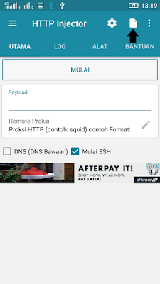 cara import config internet gratis work http injector XL, Axis, Telkomsel, Indosat, Three (3)