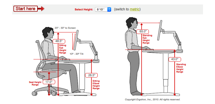 Typical STANDING DESK Height | Best Office Furniture Design Ideas