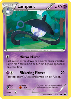 Lampent Steam Siege Pokemon Card