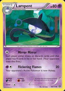 Lampent Steam Siege Pokemon Card