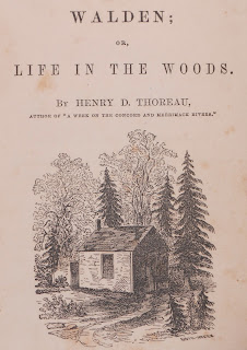 Title page image from Walden, 1854