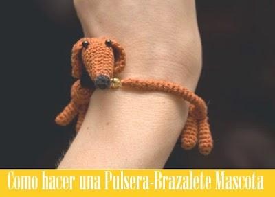 Patron Crochet Brazalete Mascota