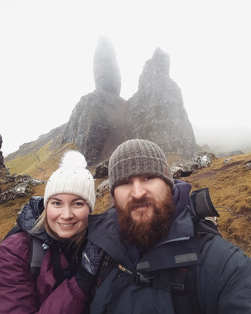 Us at the Old Man of Storr