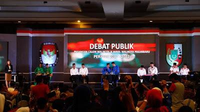 Debat Publik Pilwako Pekanbaru 2017