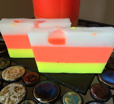 candy corn soap neon bright colors