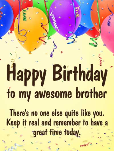 Best Birthday Wishes | Quotes | Messages and Images for Brother form Younger Brother or Sister