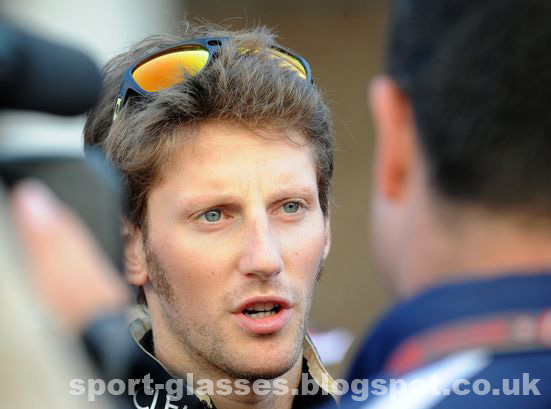 Romain Grosjean wearing Oakley Dispatch II Sunglasses - 2012