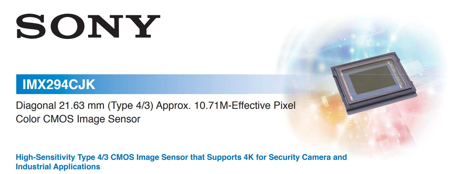 Основные характеристики сенсора Sony IMX294CJK