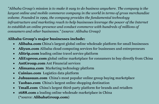 Chart of Alibaba Group's major businesses | DomainMondo.com