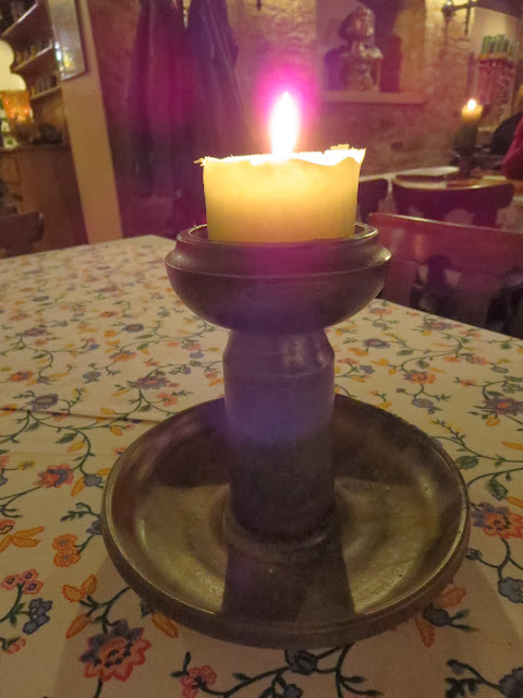 Candle in a wine bar in Speyer, Germany