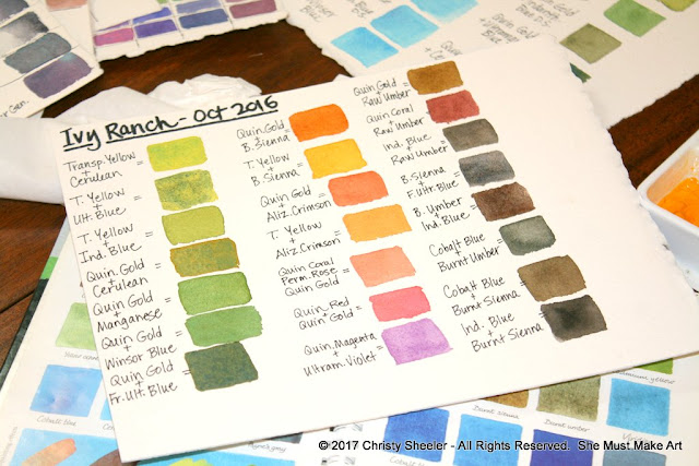 The color mixing chart for this artwork is ready to go!