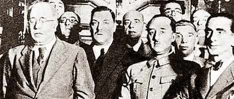 Azaña, Franco y Casares Quiroga, en 1932