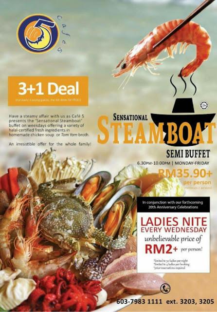 Syoknya dapat makan Steamboat Murah di Pearl International Hotel