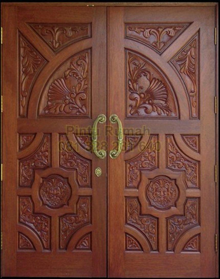 pintu kupu tarung ukir 1