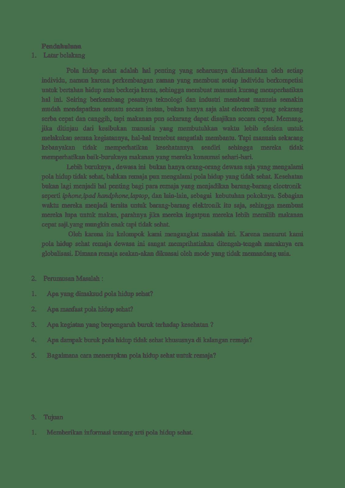 Makalah Pola Hidup Sehat Wood Scribd Indo