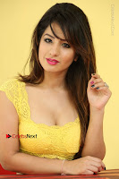 Cute Telugu Actress Shunaya Solanki High Definition Spicy Pos in Yellow Top and Skirt  0535.JPG