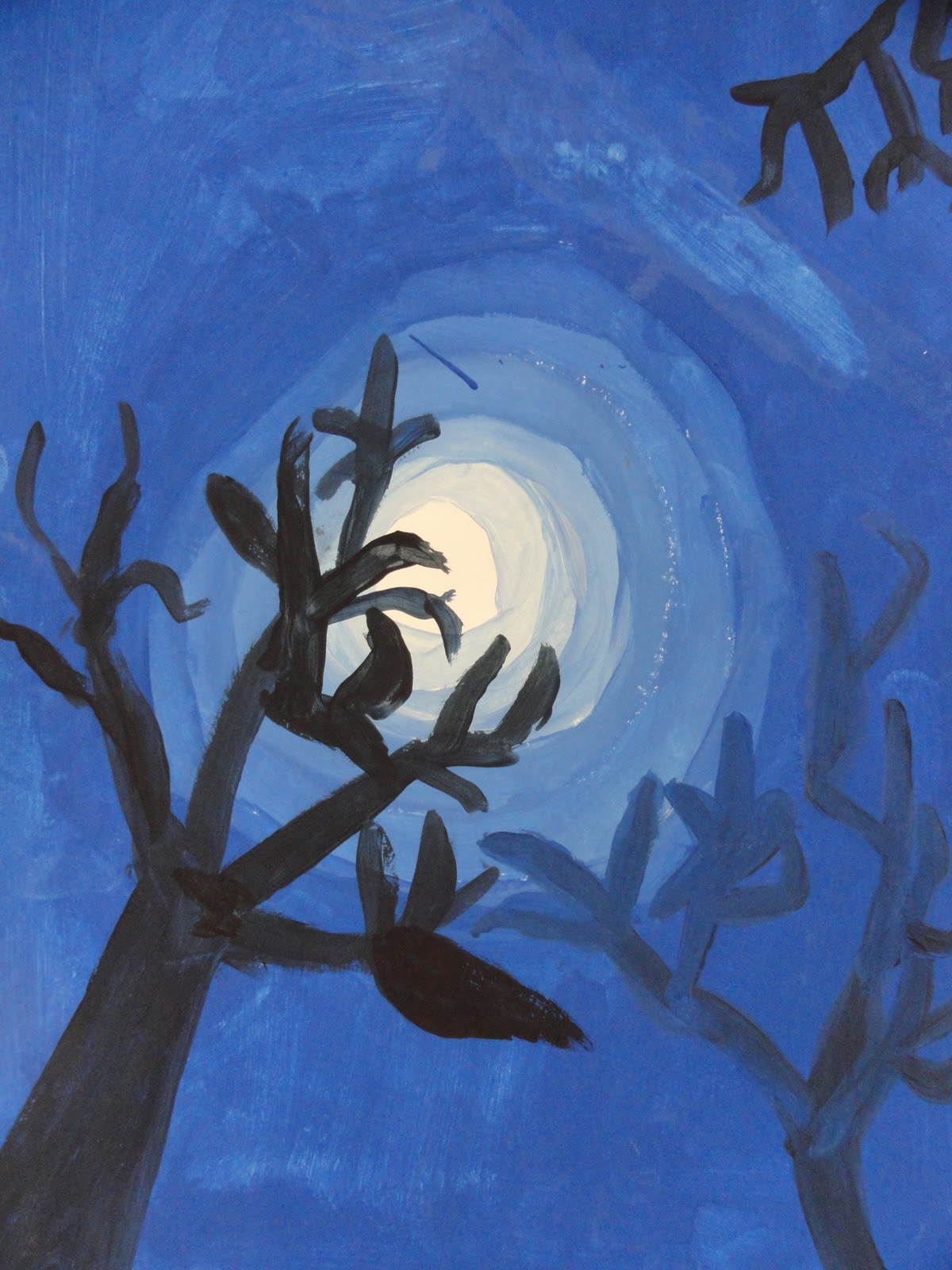 Splats Scraps And Glue Blobs Moon Amp Trees With Tints And